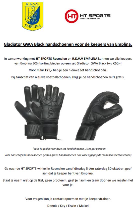 Handschoenen voor keepers van Emplina